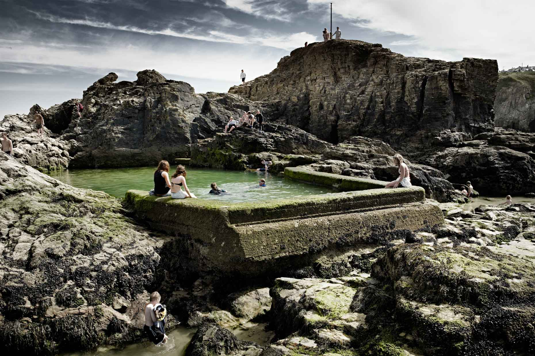 england | perranporth chapel rock pool tidal pools